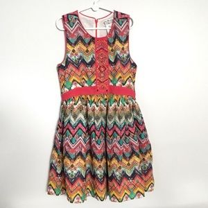 APHORISM Chevron Rainbow Colored Dress